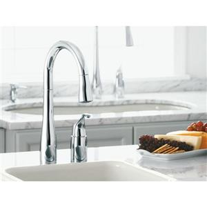 KOHLER Simplice Two-Hole Kitchen Sink Faucet - Black