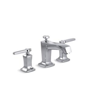 Kohler Margaux Widespread Bathroom Sink Faucet with Lever Handles - Chrome