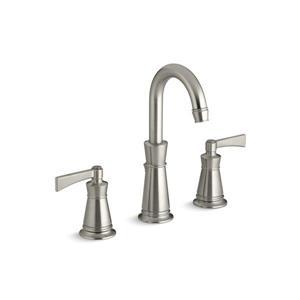Kohler Archer Widespread Bathroom Sink Faucet with Lever Handles - Nickel