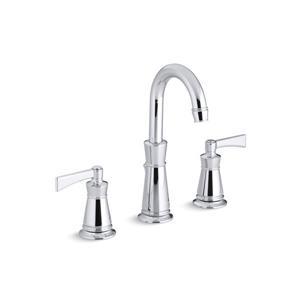 Kohler Archer Widespread Bathroom Sink Faucet with Lever Handles - Chrome