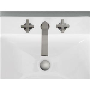 Kohler Composed Widespread Bathroom Sink Faucet with Cross Handles - Grey