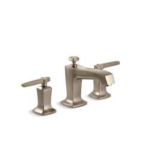 Kohler Margaux Widespread Bathroom Sink Faucet with Lever Handles - Bronze