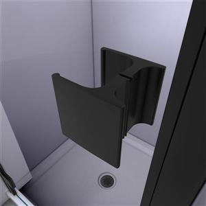 """DreamLine Lumen Semi-Framed Shower Door/Base - 32"""" - Black"""