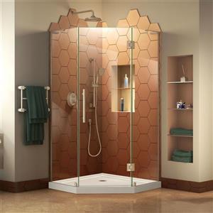 "DreamLine Prism Plus Shower Enclosure Kit - 40"" - Nickel"