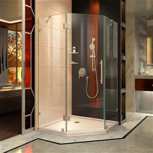 "DreamLine Prism Lux Shower Enclosure Kit - 38"" - Nickel"