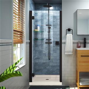 "DreamLine Lumen Semi-Framed Shower Door/Base - 42"" - Black"