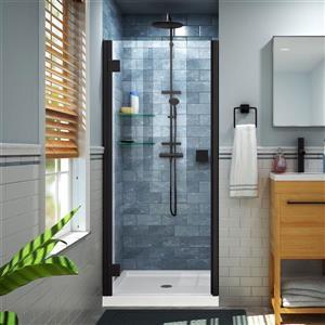 """DreamLine Lumen Shower Door/Base Kit - 34"""" x 42"""" - Black"""