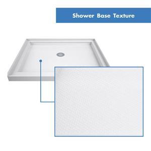 """DreamLine Lumen Shower Door/Base Kit - 36"""" x 36"""" - Nickel"""