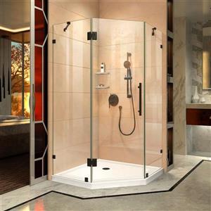 """DreamLine Prism Lux Shower Enclosure/Base Kit - 38"""" - Bronze"""