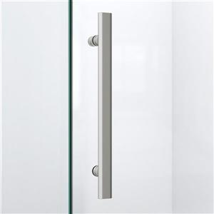 "DreamLine Prism Lux Shower Enclosure/Base Kit - 38"" - Nickel"