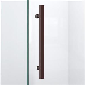 """DreamLine Prism Lux Shower Enclosure/Base Kit - 36""""- Bronze"""