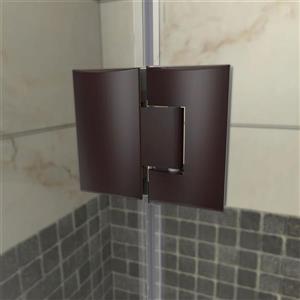 "DreamLine Prism Plus Shower Enclosure Kit - 36"" - Bronze"