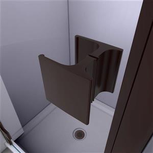 """DreamLine Lumen Shower Door/Base Kit - 34"""" x 42"""" - Bronze"""