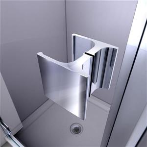 "DreamLine Lumen Shower Door/Base Kit - 42"" x 42"" - Chrome"