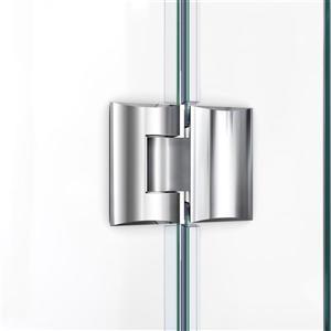 """DreamLine Prism Lux Shower Enclosure/Base Kit - 42"""" - Nickel"""