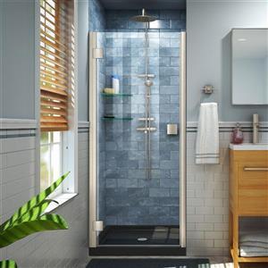 """DreamLine Lumen Shower Door and Base - 42"""" x 42"""" - Nickel"""