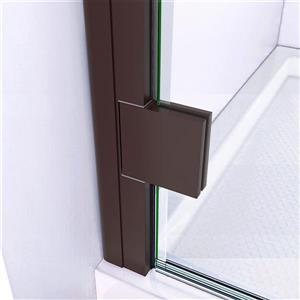 """DreamLine Lumen Shower Door and Base - 36"""" x 36"""" - Bronze"""