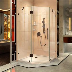 "DreamLine Prism Lux Shower Enclosure Kit - 38"" - Bronze"