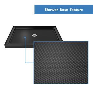 """DreamLine Lumen Shower Door and Base - 36"""" x 36"""" - Nickel"""