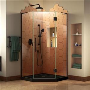 "DreamLine Prism Plus Shower Enclosure Kit - 38"" - Black"