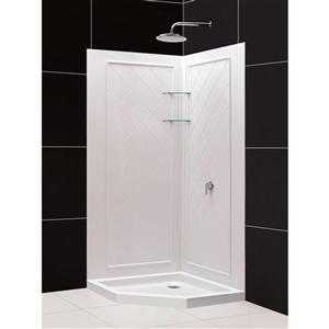 "DreamLine QWALL-4 Shower Base and Backwalls - 40"""