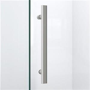 """DreamLine Prism Lux Shower Enclosure/Base Kit - 40""""- Nickel"""
