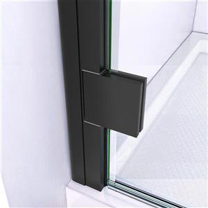 """DreamLine Lumen Semi-Framed Shower Door/Base - 36"""" - Black"""