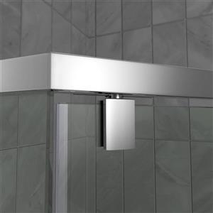 "DreamLine Prism Shower Enclosure/Base Kit - 40"" - Chrome"