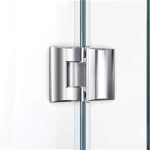 "DreamLine Shower Enclosure and Base Kit - 38"" - Chrome"
