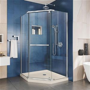 "DreamLine Shower Enclosure and Base Kit - 42"" - Chrome"