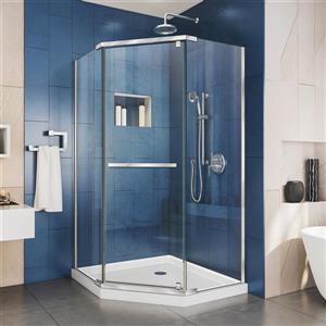 "DreamLine Prism Shower Enclosure/Base Kit - 36"" - Chrome"