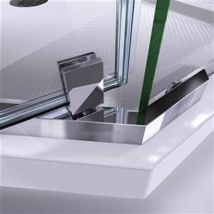 "DreamLine Shower Enclosure and Base Kit - 40""- Chrome"