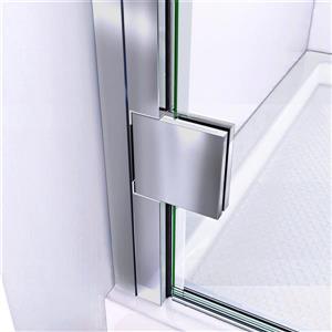 """DreamLine Lumen Shower Door/Base Kit - 32"""" x 42"""" - Chrome"""