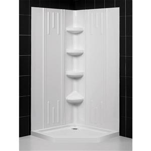 "DreamLine QWALL-2 Shower Base and 2 Backwalls - 40"""