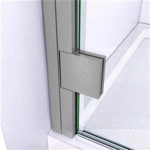 "DreamLine Lumen Semi-Framed Shower Door/Base - 32"" - Nickel"