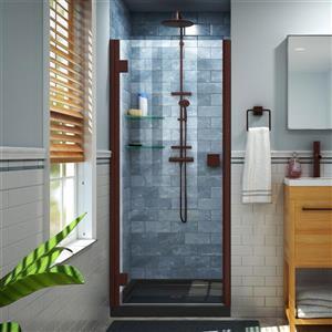 """DreamLine Lumen Shower Door and Base - 32"""" x 42"""" - Bronze"""