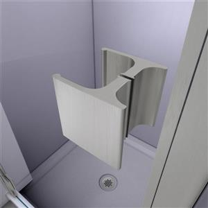 "DreamLine Lumen Semi-Framed Shower Door/Base - 36"" - Nickel"