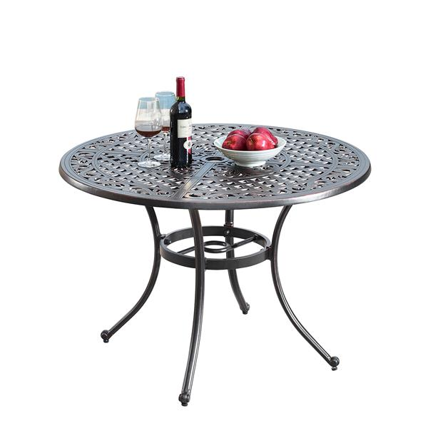 Oakland Living Traditional Round Patio, 42 Patio Table