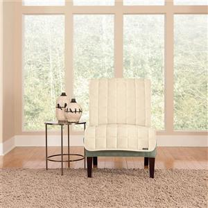 Sure Fit Deluxe Pet Cover for Armchair - 48-in x 37-in - Ivory
