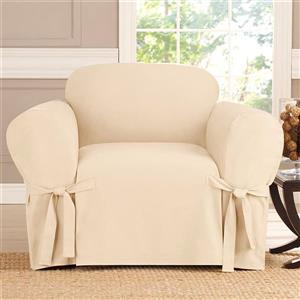 Sure Fit Sailcloth Chair Cover - 48-in x 37-in - Natural