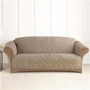 Sure Fit NovaCool Pet Sofa Cover - 96-in x 37-in - Taupe
