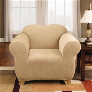 Sure Fit Stretch Pique Chair Cover - 48-in x 37-in - Cream