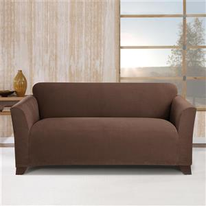 Sure Fit Stretch Morgan Loveseat Cover - 73-in x 37-in - Chocolate