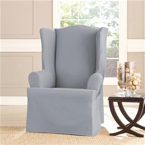 Sure Fit Sailcloth Wing Chair Cover - 29-in x 42-in - Pacific Blue