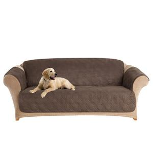 Sure Fit Microfiber Pet Sofa Cover - 96-in x 37-in - Chocolate