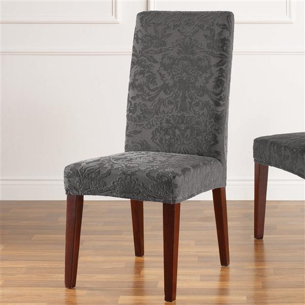 Fit Jacquard Damask Dining Chair Cover, Dining Room Seat Covers Canada