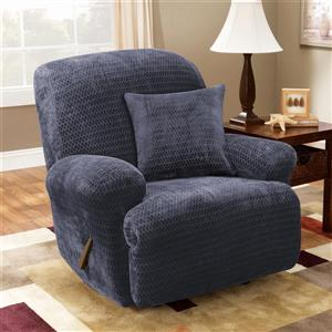 Sure Fit Royal Diamond Recliner Cover - 30-in x 40-in - Storm Blue