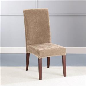 Sure Fit Stretch Plush Dining Chair Cover - 18.5-in x 42-in - Sable