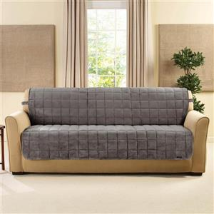 Sure Fit Deluxe Pet Sofa Cover - 96-in x 37-in - Grey