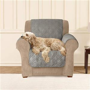 Sure Fit NovaCool Pet Armchair Cover - 48-in x 37-in - Grey